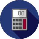 calculator, education, technology, maths, Calculating, Technological MidnightBlue icon