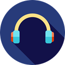 sound, miscellaneous, Audio, Headphones, technology, earphones DarkSlateBlue icon