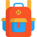 travel, Backpack, luggage, baggage, Bags Tomato icon