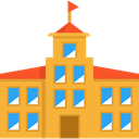 college, High School, Architecture And City, school, education, buildings Goldenrod icon