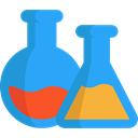 education, Chemistry, chemical, laboratory, Flasks DodgerBlue icon