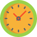 time, watch, tool, square, Tools And Utensils, Time And Date, Clock Goldenrod icon