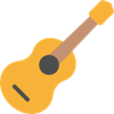 Music And Multimedia, music, guitar, flamenco, Folk, musical instrument, Spanish Guitar, Orchestra, Acoustic Guitar, String Instrument Goldenrod icon