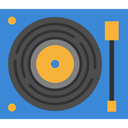 turntable, Music And Multimedia RoyalBlue icon