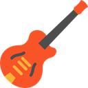 music, Electric guitar, musical instrument, Orchestra, String Instrument, Music And Multimedia Black icon