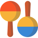 music, shaker, tropical, maracas, musical instrument, Music And Multimedia Goldenrod icon