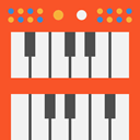 electronic, organ, musical instrument, synthesizer, Music And Multimedia, Keyboard, music, piano Tomato icon