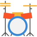 music, Drum, musical instrument, Percussion Instrument, Orchestra, Drum Set, Music And Multimedia Black icon