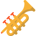 Music And Multimedia, music, jazz, Trumpet, musical instrument, Wind Instrument, Orchestra Black icon