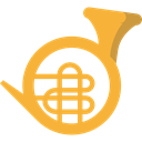 music, Music Instrument, Wind Instrument, Orchestra, French Horn, Music And Multimedia Icon