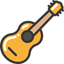 music, guitar, flamenco, Music And Multimedia, Folk, musical instrument, Spanish Guitar, Orchestra, Acoustic Guitar, String Instrument Black icon