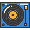 turntable, Music And Multimedia DarkSlateGray icon
