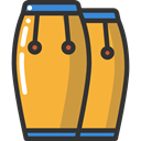 music, Caribbean, musical instrument, Percussion Instrument, Orchestra, Conga, Music And Multimedia Goldenrod icon