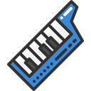 Keyboard, music, musical instrument, synthesizer, Keytar, Music And Multimedia Black icon
