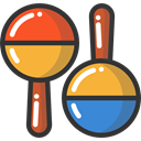 Music And Multimedia, music, shaker, tropical, maracas, musical instrument DarkSlateGray icon