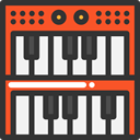 Music And Multimedia, electronic, organ, musical instrument, synthesizer, Keyboard, music, piano DarkSlateGray icon