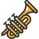 Orchestra, Music And Multimedia, music, jazz, Trumpet, musical instrument, Wind Instrument DarkSlateGray icon