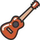 Ukelele, Music And Multimedia, music, musical instrument, Orchestra, String Instrument Black icon
