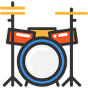 Orchestra, Drum Set, Music And Multimedia, Drum, musical instrument, Percussion Instrument, music DarkSlateGray icon