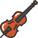 musical instrument, Orchestra, String Instrument, Music And Multimedia, music, Violin Icon