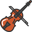 Music And Multimedia, Violin, musical instrument, Orchestra, String Instrument, music DarkSlateGray icon
