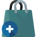 shopping bag, Supermarket, Shopper, Commerce And Shopping, Business, commerce, shopping, Bag SeaGreen icon