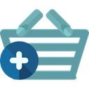 commerce, shopping basket, Supermarket, online store, Shopping Store, Commerce And Shopping CadetBlue icon