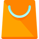 shopping bag, Supermarket, Shopper, Commerce And Shopping, Business, commerce, shopping, Bag DarkOrange icon