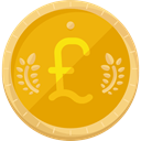 Business, Money, Cash, Business And Finance, pound, Currency, banking, Pound Sterling Orange icon