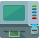 Atm, cash machine, Cash Point, Commerce And Shopping, Business, Money, machine DarkGray icon