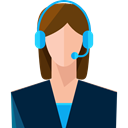 user, Headphones, Call, Microphone, Avatar, customer service, technology, Telemarketer, support, people MidnightBlue icon