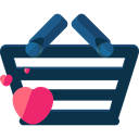 commerce, shopping basket, Supermarket, online store, Shopping Store, Commerce And Shopping DarkSlateGray icon