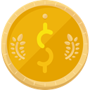 Business, Money, commerce, Currency, Bank, exchange, Dollar Symbol, Business And Finance, Commerce And Shopping Orange icon