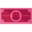 Notes, Business, Money, Cash, Currency, Business And Finance PaleVioletRed icon