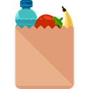 food, Shopping Store, Food And Restaurant, Grocery, Supermarket, Goods, groceries DarkSalmon icon