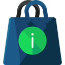 commerce, shopping, Bag, shopping bag, Supermarket, Shopper, Commerce And Shopping, Business DarkSlateGray icon