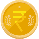 exchange, rupee, Business And Finance, Business, Money, commerce, Currency, Bank, India Orange icon