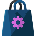 Business, commerce, shopping, Bag, shopping bag, Supermarket, Shopper, Commerce And Shopping DarkSlateGray icon