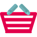 commerce, shopping basket, Supermarket, online store, Shopping Store, Commerce And Shopping Crimson icon