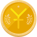 Money, coin, yen, Currency, Bank, banking, Business And Finance, Business Orange icon