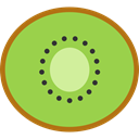 Food And Restaurant, food, Fruit, organic, diet, Kiwi, vegetarian, vegan, Healthy Food YellowGreen icon