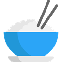 Japanese Food, Food And Restaurant, food, Bowl, rice, Chinese Food DodgerBlue icon