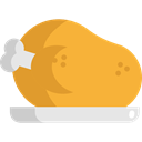 chicken leg, Turkey Leg, Roast Chicken, Food And Restaurant, food, turkey, chicken Goldenrod icon
