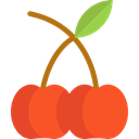 food, Fruit, organic, diet, Cherry, cherries, vegetarian, vegan, Healthy Food, Food And Restaurant Black icon
