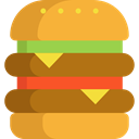 sandwich, Burger, hamburger, Food And Restaurant, food, Fast food, junk food Goldenrod icon