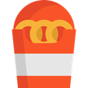 food, snack, Fast food, Unhealthy, Onion Rings, Food And Restaurant Tomato icon