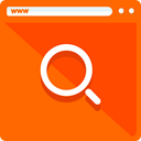 Seo And Web, Browser, internet, interface, computing OrangeRed icon