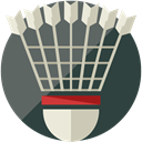 Shuttlecock, equipment, sports, Badminton, Sports And Competition DimGray icon
