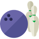 Game, sports, Bowling, Fun, leisure, Bowling Pins, Sports And Competition DarkSlateBlue icon
