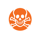 Toxic, danger, hazard, collection Black icon